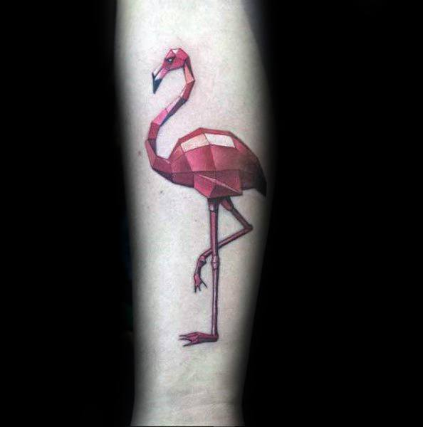 Guys Tattoo Flamingo
