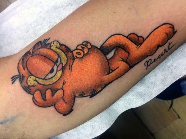 Guys Tattoo Garfield