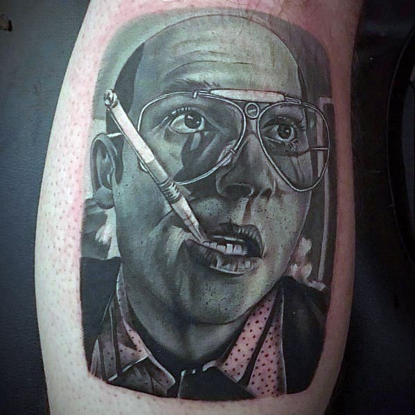 Guys Tattoo Hunter S Thompson