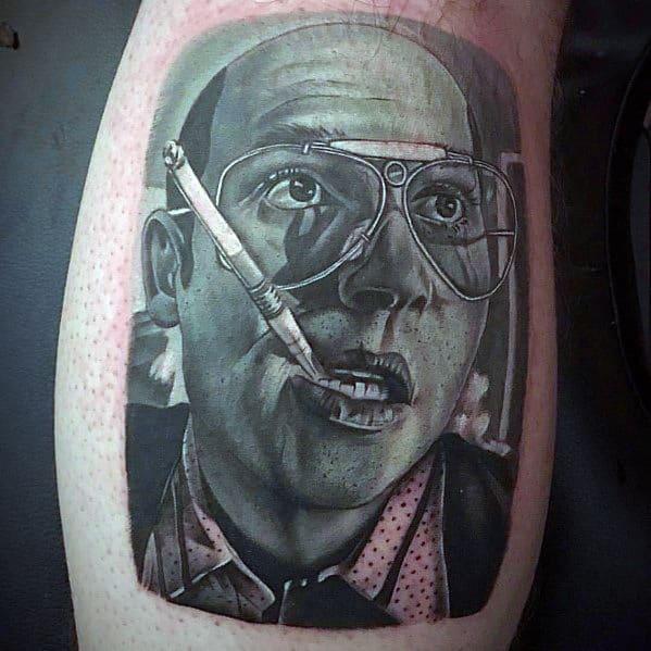 Guys Tattoo Hunter S Thompson