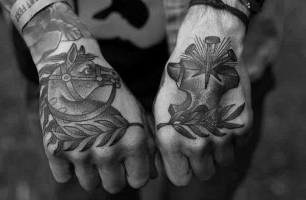 Guys Tattoo Ideas Anvil Designs