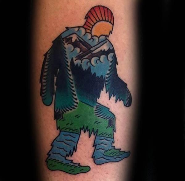 Guys Tattoo Ideas Bigfoot Designs