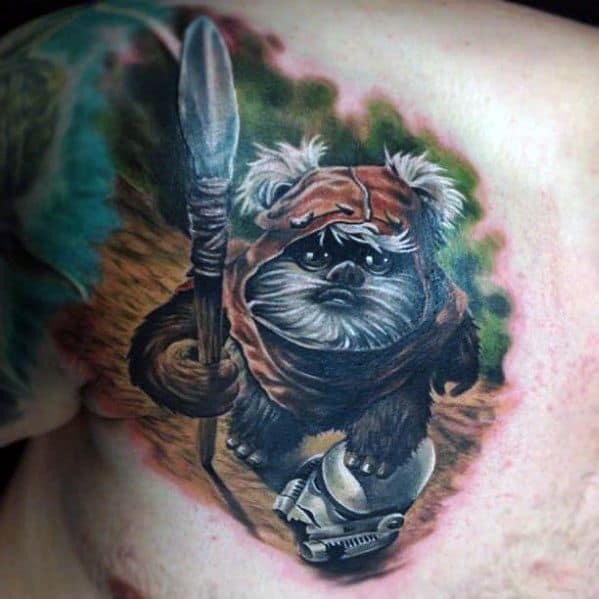 Guys Tattoo Ideas Ewok Designs