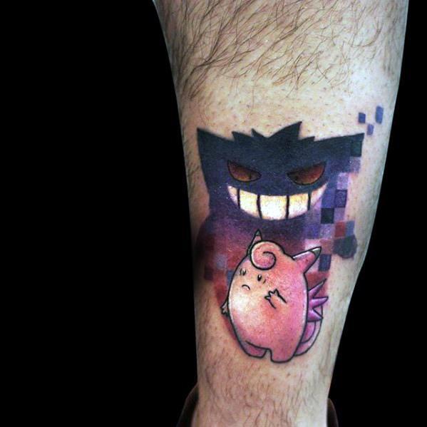 Guys Tattoo Ideas Gengar Designs
