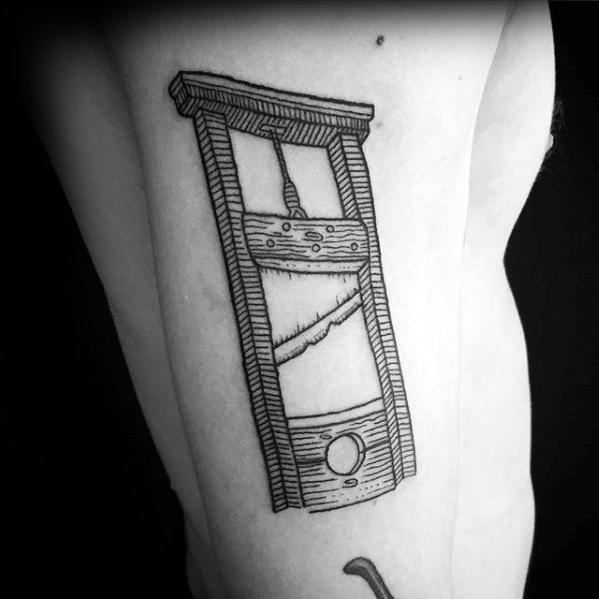 Guys Tattoo Ideas Guillotine Designs