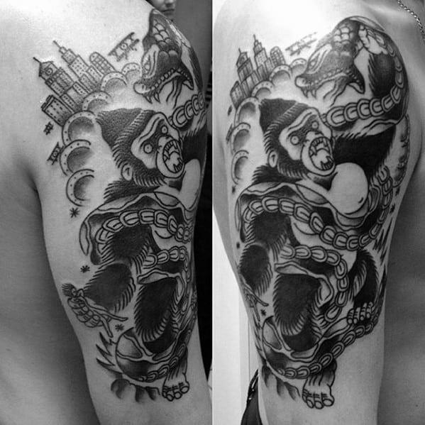 Guys Tattoo Ideas King Kong Designs