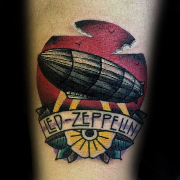 Guys Tattoo Ideas Led Zeppelin Designs