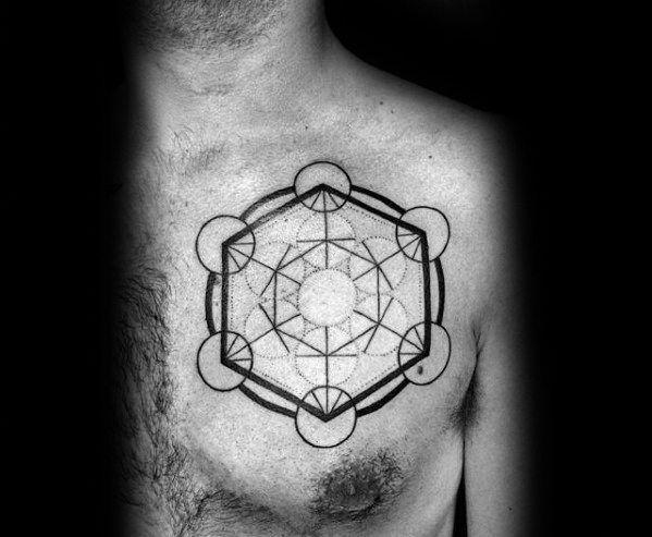 Guys Tattoo Ideas Metatrons Cube Designs
