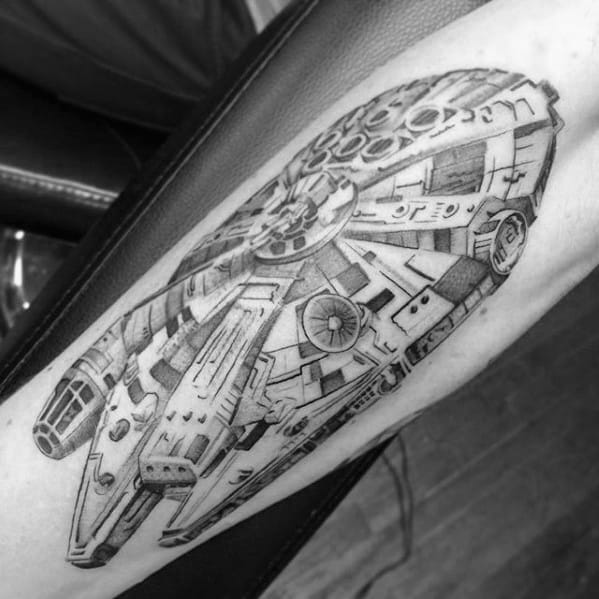 Guys Tattoo Ideas Millennium Falcon Designs