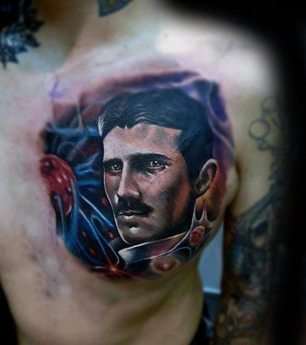Guys Tattoo Ideas Nikola Tesla Designs