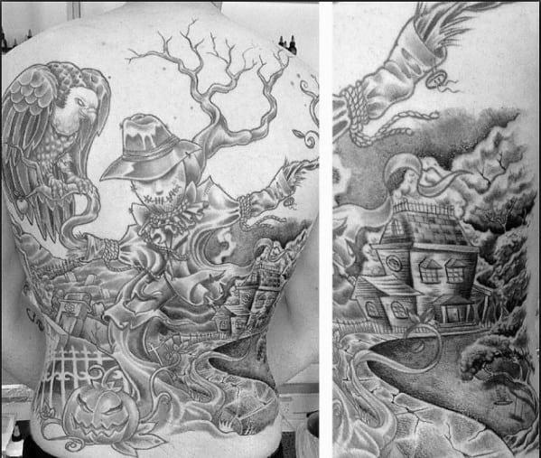 Guys Tattoo Ideas Scarecrow Designs