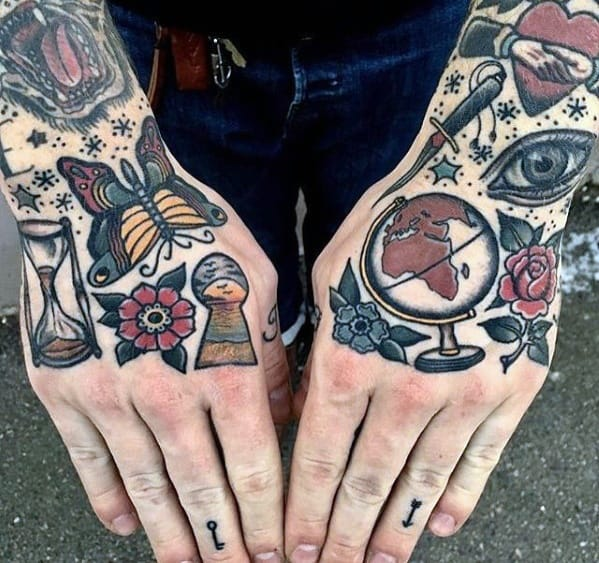 Guys Tattoo Ideas Simple Traditional Hand Designs