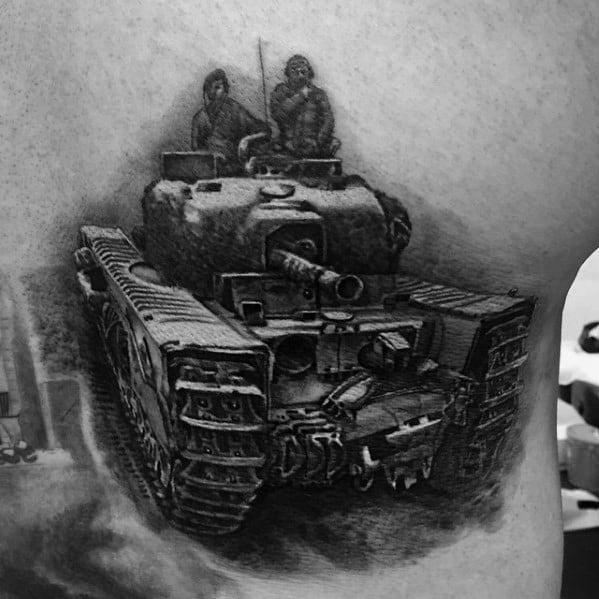 Guys Tattoo Ideas Tank Designs