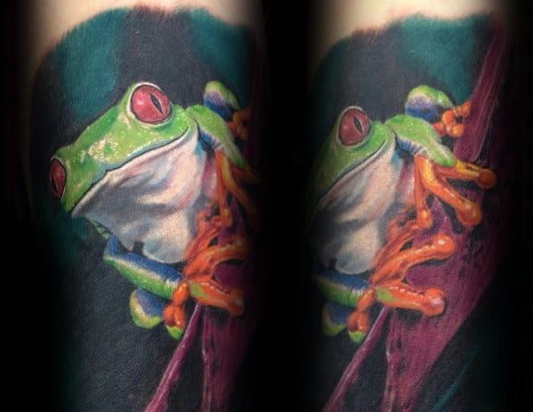 Guys Tattoo Ideas Tree Frog Designs Sleeve