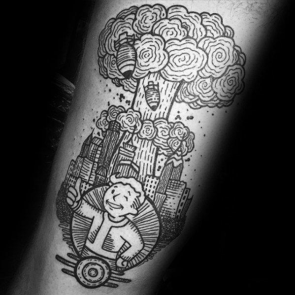 Guys Tattoo Ideas Vault Boy Designs
