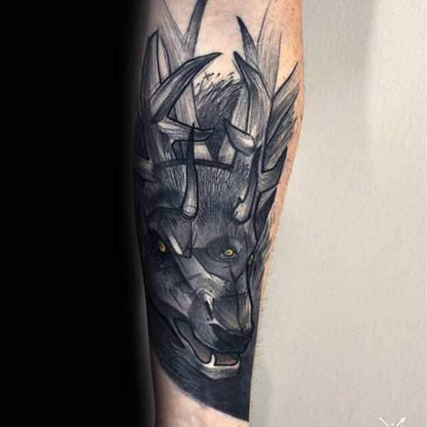 Guys Tattoo Ideas Witcher Designs