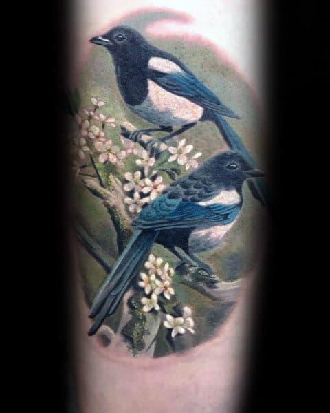 Guys Tattoo Magpie