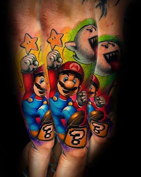 Guys Tattoo Mario Video Game