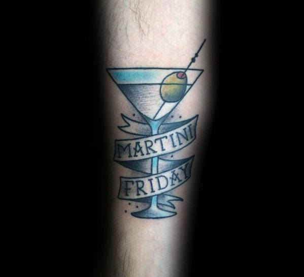 Guys Tattoo Martini Glass