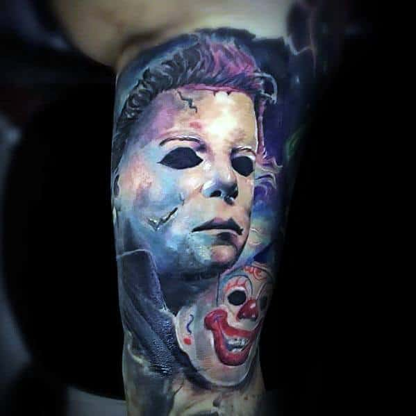 Guys Tattoo Michael Myers 3d