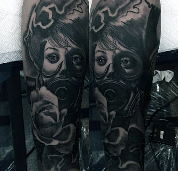 100 Gas Mask Tattoo Designs For Men