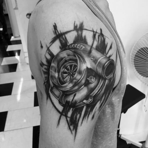 Guys Tattoo Turbocharger