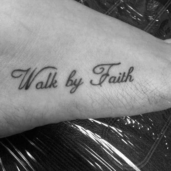 Guys Tattoo Walk By Faith Not By Sight
