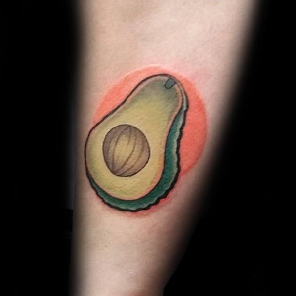 Guys Tattoos With Avocado Design