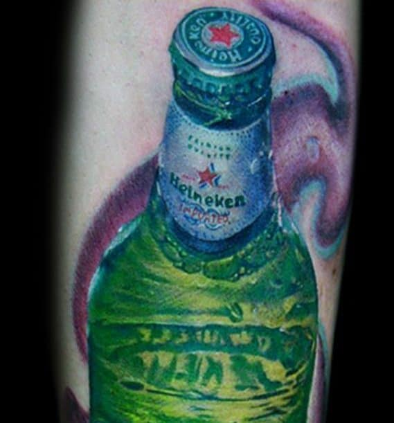 Guys Tattoos With Beer Design