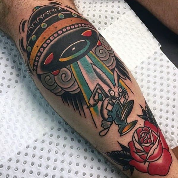 Guys Tattoos With Blink 182 Design