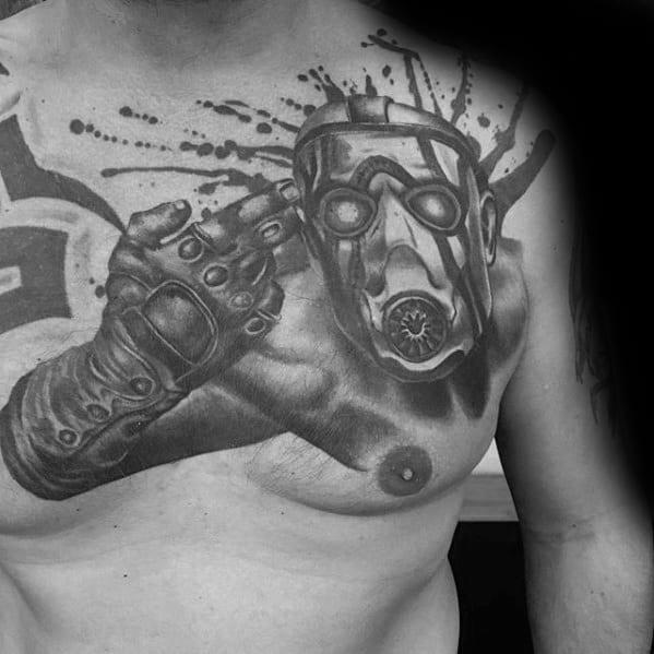 Guys Tattoos With Borderlands Design