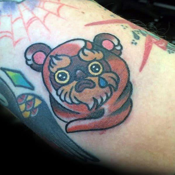 Guys Tattoos With Ewok Design