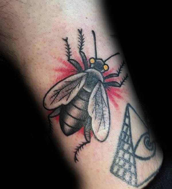 Guys Tattoos With Fly Design