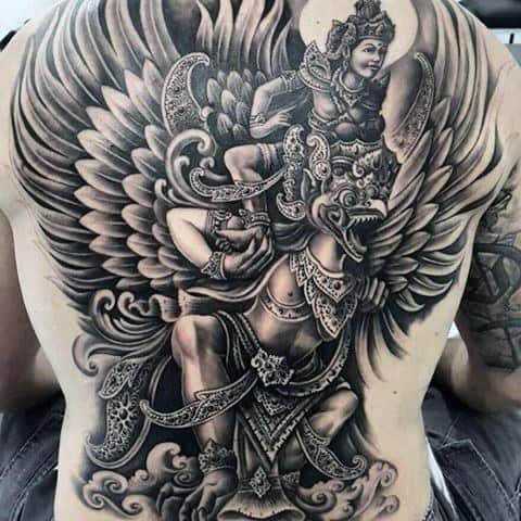 Guys Tattoos With Garuda Design