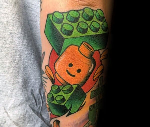 Guys Tattoos With Lego Design