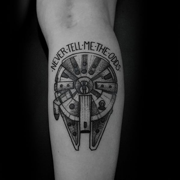Guys Tattoos With Millennium Falcon Design