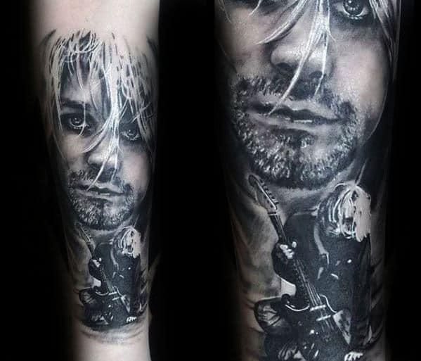 Guys Tattoos With Nirvana Design