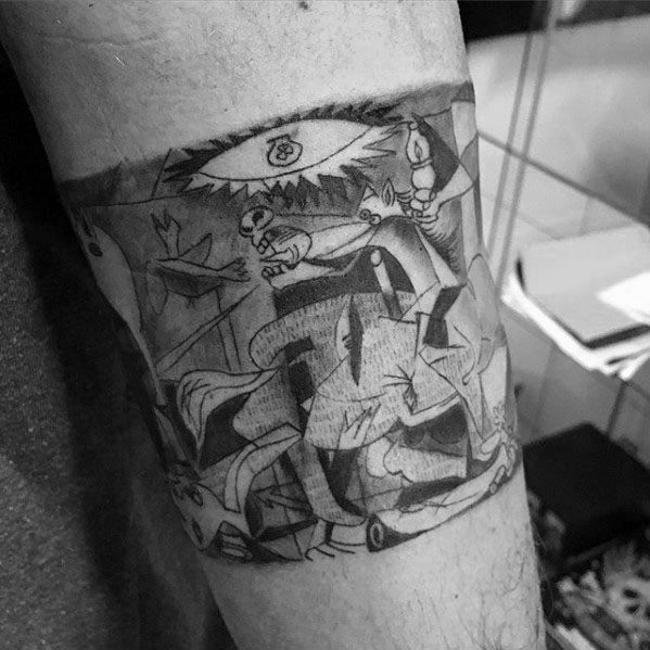 Guys Tattoos With Pablo Picasso Design