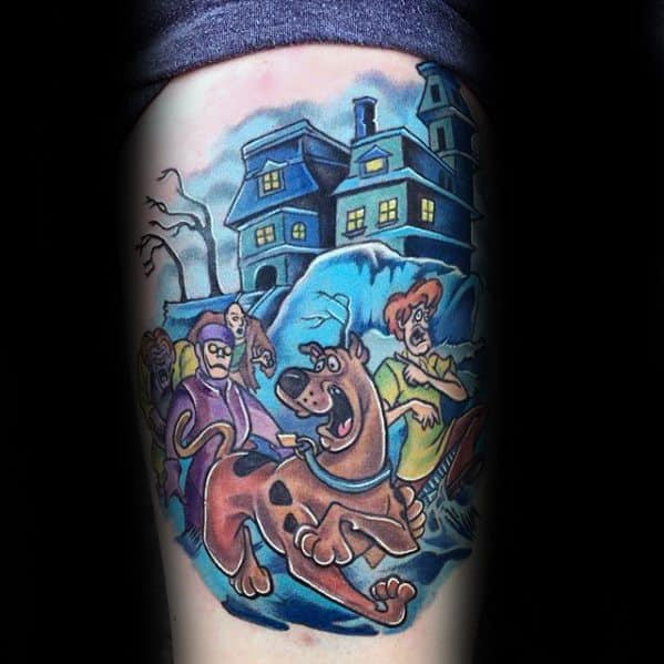 Guys Tattoos With Scooby Doo Design