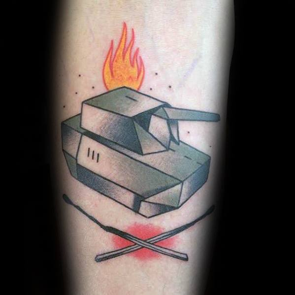 Guys Tattoos With Tank Design