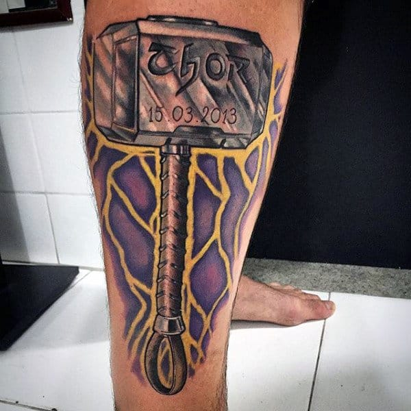 Beroemd 50 Hammer Tattoo Designs For Men - Manly Tool Ink Ideas &KY08