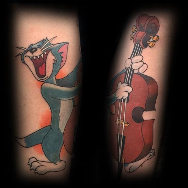 Guys Tom And Jerry Tattoos