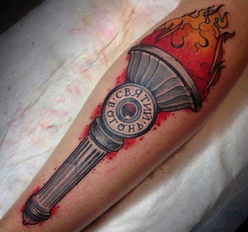 Guys Torch Tattoo