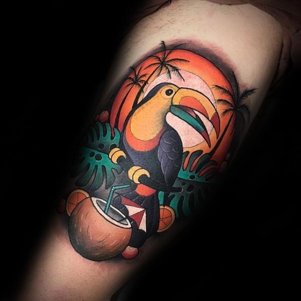 Guys Toucan Tattoo Designs