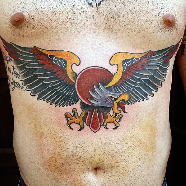 50 Traditional Eagle Tattoo Designs For Men - Old School Ideas