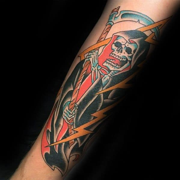guys-traditional-reaper-tattoos-on-forearm