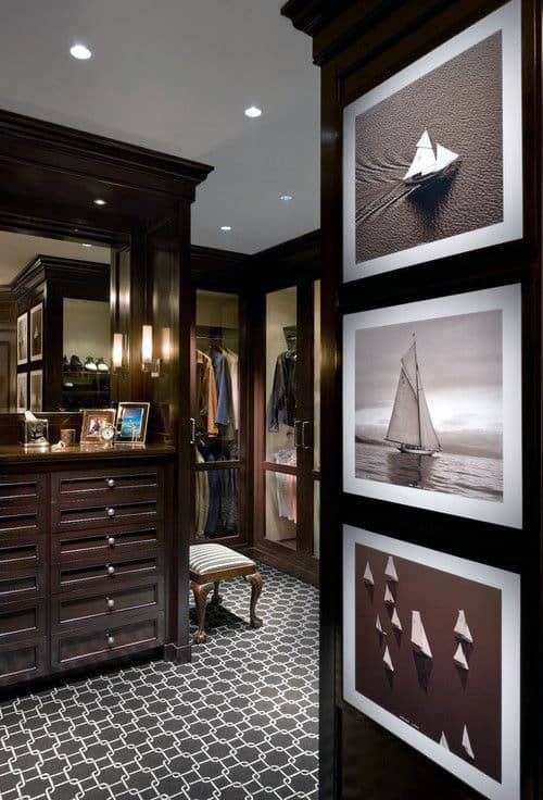 Guys Traditional Wood Cabinet Closet Designs