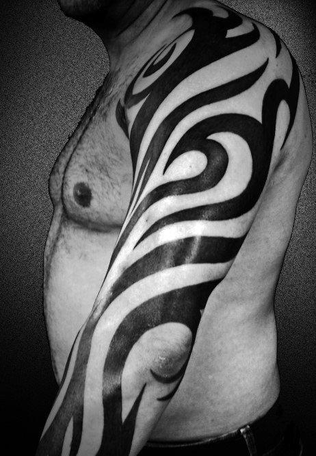 Guys Tribal Sleeve Tattoos