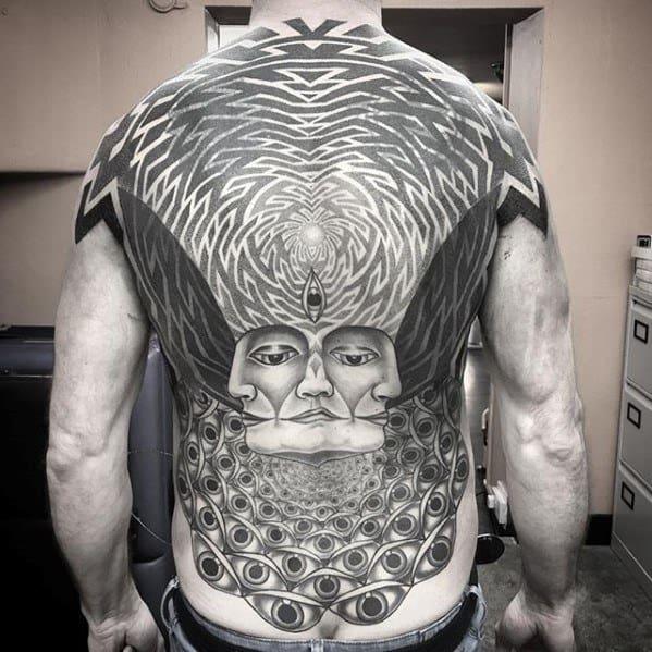 Guys Trippy Tattoo Design Ideas