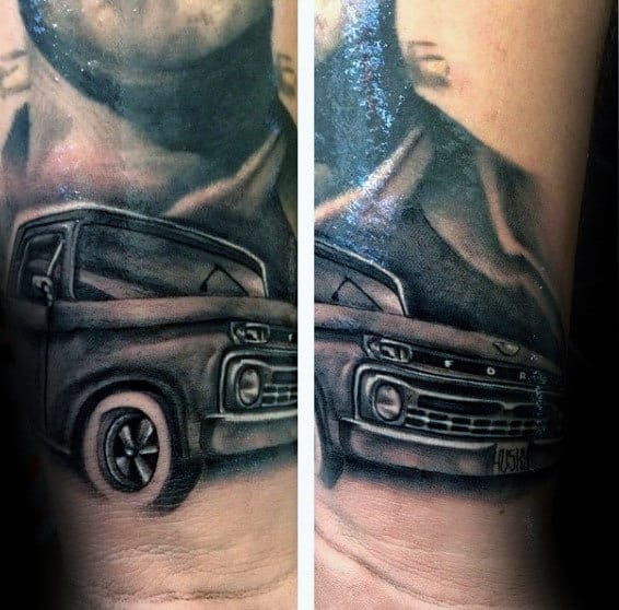 Guys Truck Wrist Tattoos